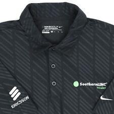 """Nike Golf Tour Men XL 48"""" Ericsson Polo Shirt Black SouthernLinc Wireless DriFit"""