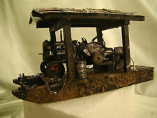 Hit and Miss Gasoline Logging Engine on Skidder - custom weathered - lot 4 -