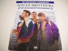 JONAS BROTHERS For Your GRAMMY CONSIDERATION original 2019 PROMO POSTER AD mint