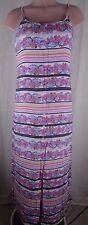 LC Lauren Conrad Women's Size 2 Multi Color Maxi Dress Floral Spaghetti Strap