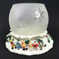 Pfaltzgraff Sculpted Tea Light Candle Globe Winterberry