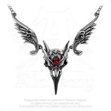 Raven Skull Masque Of The Black Rose Necklace Alchemy Gothic Vampire Raven Mask