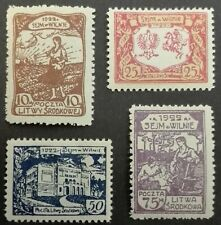 CENTRAL LITHUANIA STAMPS MNH - Introduction of the Parliament,1922, **