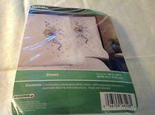 Bucilla Stamped Pillowcases Cross Stitch - Doves