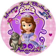 SOFIA the FIRST Round Edible ICING Image CAKE Topper Party Decoration