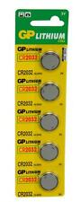 GP 656.264 Blister 5 Pack of CR2032 Watch/Clock/Remote Control/Key Fob Batteries