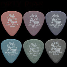 6 x Dunlop Gator Grip Guitar Picks - 1 Of Each Type