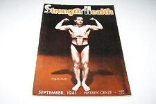 SEPT 1941 STRENGTH & HEALTH muscle magazine -Gambacorta