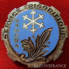 IN5177 - INSIGNE Service Frigorifique au SAHARA, dos guilloché