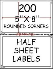 200 PERF HALF SHEET STICKY!! LABELS FOR PAYPAL SHIPPING