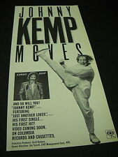 Johnny Kemp Moves with high kicking 1986 Industry Only Promo Advert mint cond.