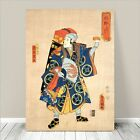 "Traditional Japanese SAMURAI Warrior Art CANVAS PRINT 36x24"" Kuniyoshi #176"