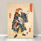 "Traditional Japanese SAMURAI Warrior Art CANVAS PRINT 36x24"" Kuniyoshi #176"
