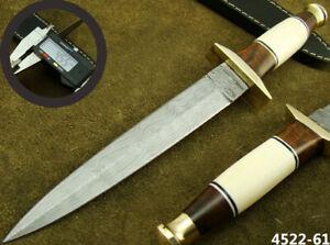 "ALISTAR 11"" HANDMADE DAMASCUS STEEL DOUBLE EDGE HUNTING DAGGER KNIFE (4522-61"