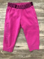 Girls YXSM Under Armour Youth X-Small Pink Capri Jogger Sweat Pants
