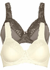 2 Stück Minimizer-BH in champagner+taupe (2er- Pack )