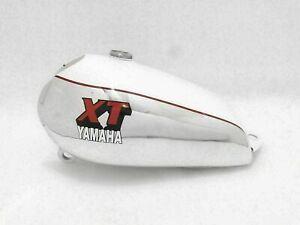 Yamaha XT500 Fuel Petrol Gas Tank White & Chrome Painted Alloy/Aluminium