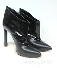 Jimmy Choo Diad Black Patent Leather Pointed Ankle Boots 39 uk 6