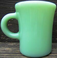 Fire King Jadeite Slim Hot Chocolate Cheater Mug 6 Ounce Restaurant Ware Vintage