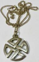 pendentif collier bijou vintage année 70 couleur argent relief ajouré * 3281