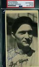 Lloyd Waner Psa Dna Coa Autograph 1936 Goudey Wide Pen Premium Hand Signed