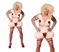 Burlesque Betty Mens Stag Night Fancy Dress Costume Funny Dress Up Outfit