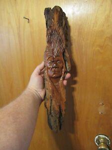 Wood Spirit Carving Wood Spirit Native American Indian Bark Spirit