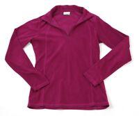 Columbia Fleece 1/2 Zip Pull Over Women's Small Purple Athleisure Hiking Sweater