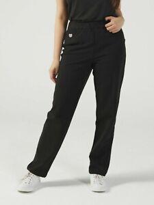 Quacker Factory Dream Jeanne Straight Leg SHORT LEG  Jeans LARGE, BLACK, BNWOT