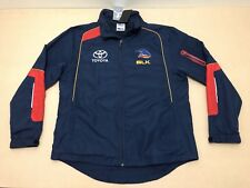 BLK ADELAIDE CROWS JACKET MENS ~ SZ LARGE ~ NEW W/ TAGS TEAM ISSUED TRACK ZIP UP