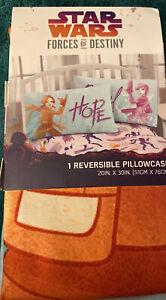 Star Wars Forces of Destiny Purple & Turquoise Reversible Pillow Case