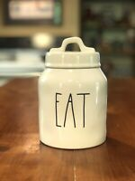 "New RAE DUNN Artisan Collection LL ""EAT"" Small Baby Canister By Magenta"