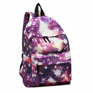 Canvas Travel Rucksack Universe Boys Girls School Backpack Hand Large Bag