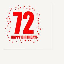 72nd BIRTHDAY LUNCHEON NAPKIN 16/pkg Large Napkin Birthday Party Supplies T320