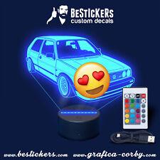 VW Golf II Mk2 GTI 8v 16v BBS Leuchtschild oldtimer gravur Led schild 3d lamp