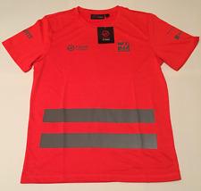Haas F1 Team Crew Shirt Formula 1 Grosjean Magnussen Neon - Medium M