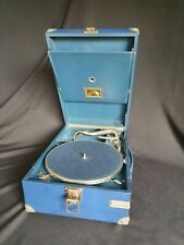 Blue HMV Model 101 portable Gramophone