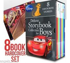 DISNEY DELUXE STORYBOOK COLLECTION FOR BOYS HARDCOVER SLEEVE 8 BOOKS BRAND NEW