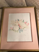"""Martha Gresham 93 """"Romance In Bloom"""" Colored Pencil Drawing - Signed/Framed"""