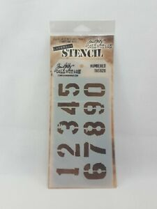 Stampers Anonymous Tim Holtz Layering Stencil Numbered THS020 (I6)