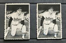 1969 Topps Deckle Edge # 2  ( of 33 ) BOOG POWELL Baltimore Orioles ( Lot of 2 )