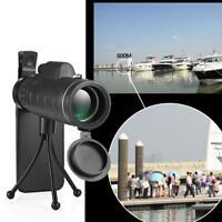 40X60 BAK4 Monocular Telescope Outdoor Hunting Scope + Phone Clip Tripod FMC