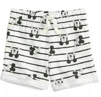 NWT New Baby Boys Disney Mickey Mouse Shorts 3 Months 6 Months Black White