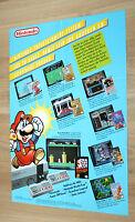 Nintendo Werbung Ad Flyer NES Super Mario World Donkey Kong The Legend of Zelda