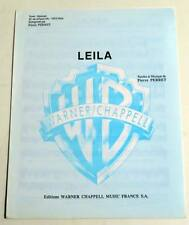 Partition sheet music PIERRE PERRET : Leila * 60's