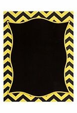 "Melrose 20"" Large MDF Yellow and Black Chevron Bordered Chalkboard"
