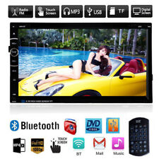"7"" HD Double 2Din Stereo Car DVD CD MP5 Player Bluetooth In Dash FM Radio AUX SE"