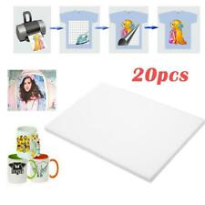 20Pcs A4 Heat Transfer Iron-On Paper For Light & Dark Fabric Cloth T-shirt Print