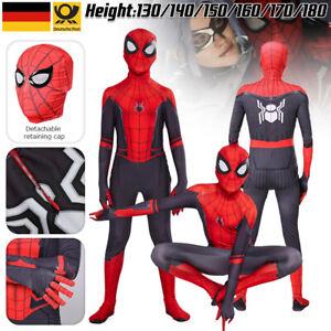 Spiderman Kostüm Kinder Erwachsene Cosplay Karneval Marvel Overall Spielanzug DE