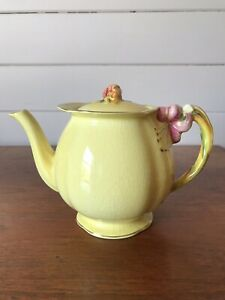 Vintage Royal Winton Grimwades Yellow Tiger Lily Teapot Made In England